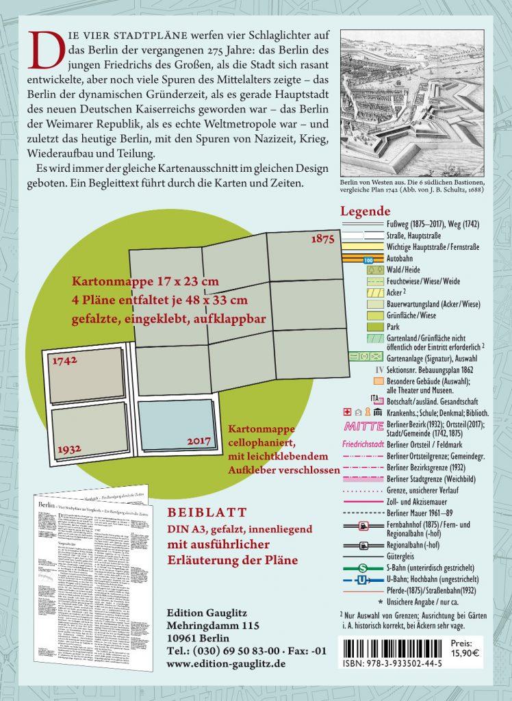 Rückseite »Berlin – 4 Stadtpläne«