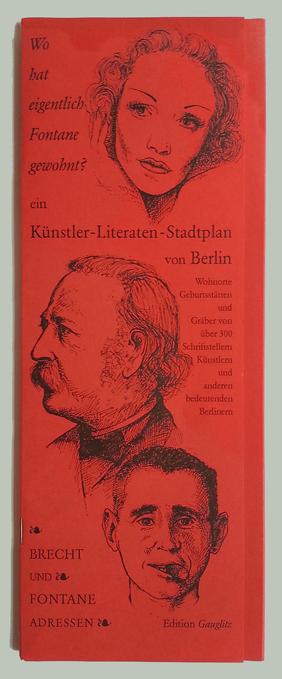 Titelblatt des Künstler- und Literatenstadtplan von Gerd Gauglitz